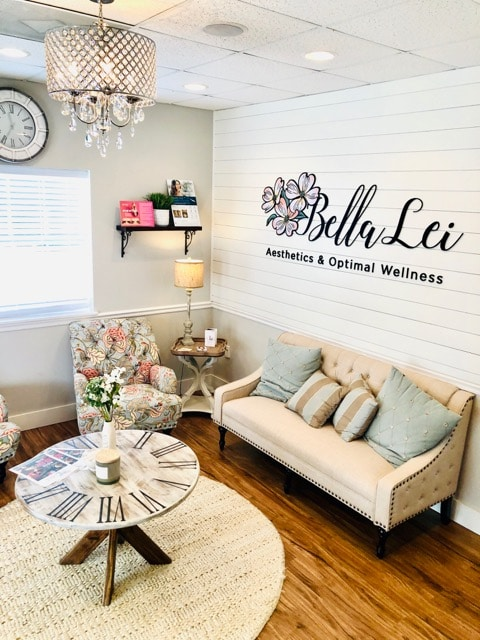 waiting room at Bella Lei